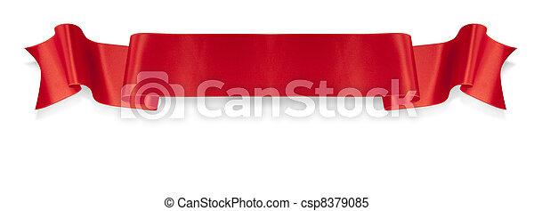 spandoek, rood lint, elegantie - csp8379085