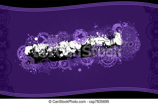spandoek, splatter, vector, grunge, achtergrond - csp7835695
