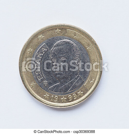 Spanish 1 Euro coin - csp30369388
