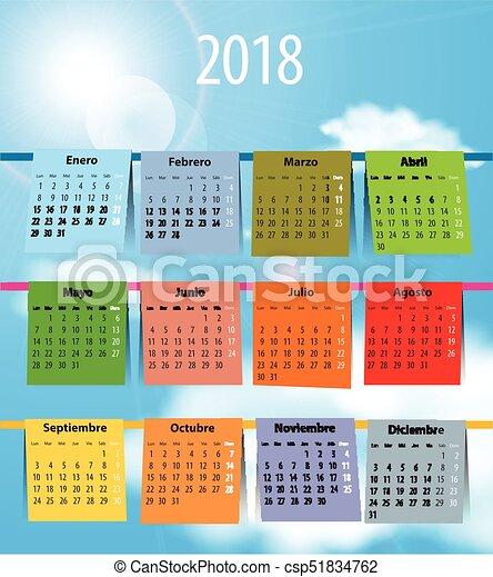 spanish calendar november 2018