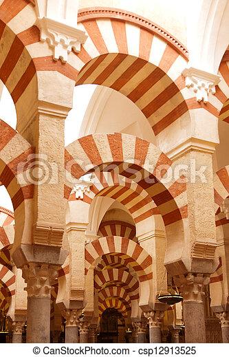 (spanish, cattolico, cordoba, mezquita, moschea, romano, situato, mosque), andalusian, città, codoba, cattedrale, precedente, spagna - csp12913525