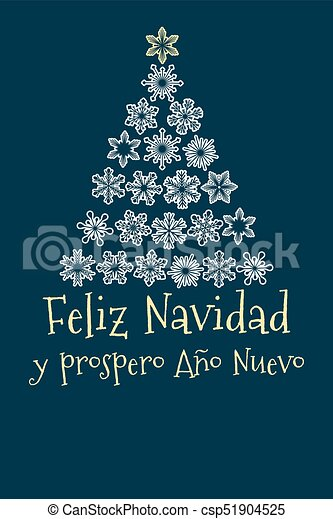 spanish christmas and new year greeting card csp51904525 - Merry Christmas And Happy New Year In Spanish