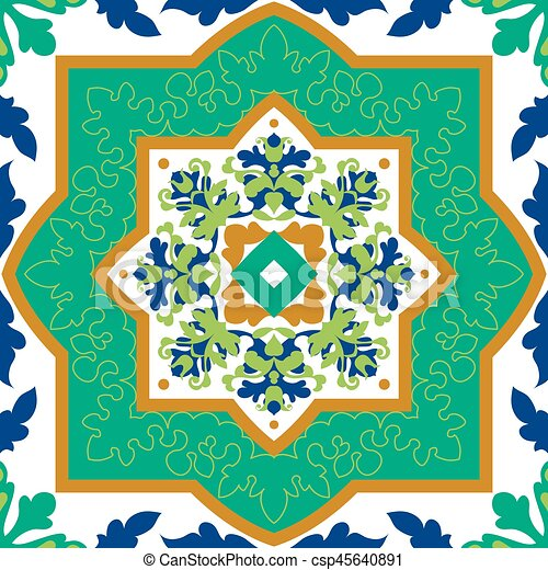 Spanish Classic Ceramic Tiles Seamless Patterns Spanish Classic Custom Spanish Patterns