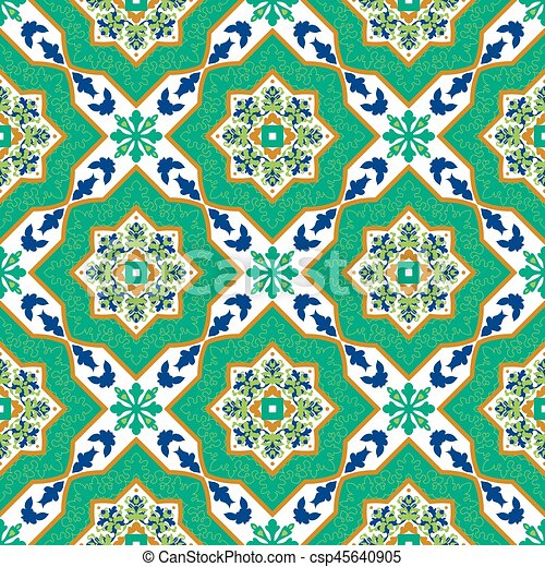 Spanish Classic Ceramic Tiles Seamless Patterns Spanish Classic Unique Spanish Patterns