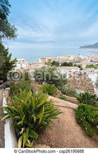 Spanish coastal resort - csp26195688