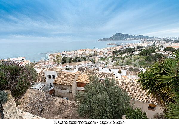 Spanish coastal resort - csp26195834