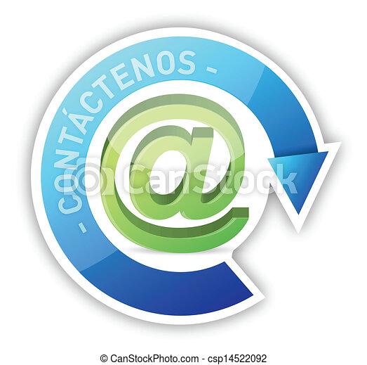 Spanish contact us illustration design - csp14522092
