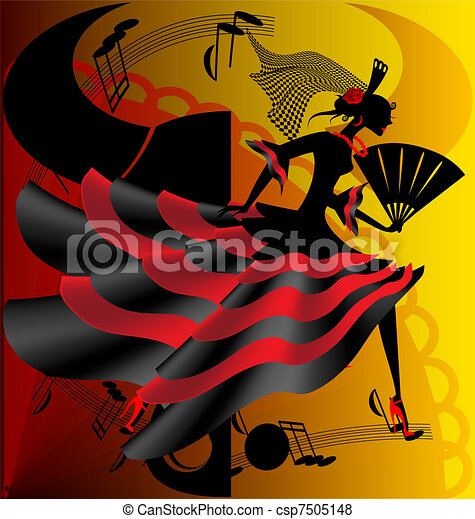 Spanish dance - csp7505148