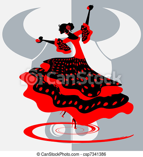 Spanish dancer - csp7341386