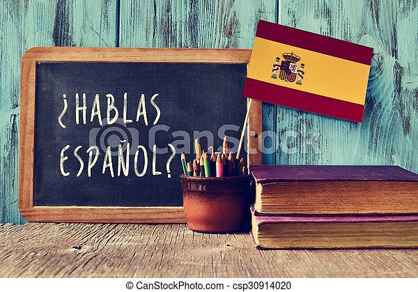 ¿Hablas español? ¿Hablas español? - csp30914020