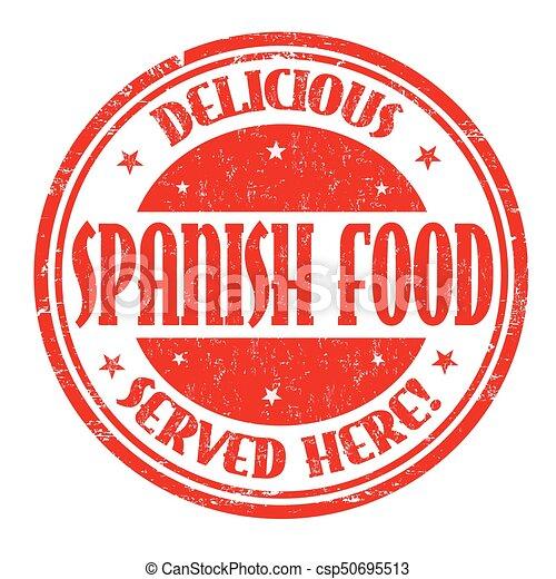 spanish food sign or stamp spanish food grunge rubber Vintage Travel Clip Art Passport Stamp Clip Art