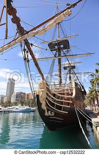 Spanish Galleon - csp12532222
