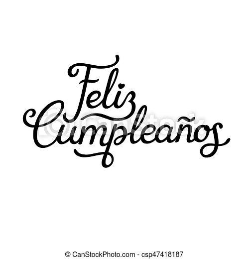 Feliz cumpleanos castellano