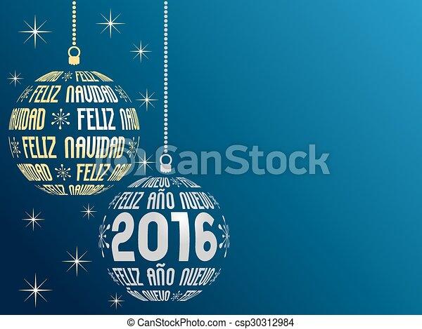 Spanish merry christmas and happy new year 2016 background spanish spanish merry christmas and happy new year 2016 background csp30312984 m4hsunfo