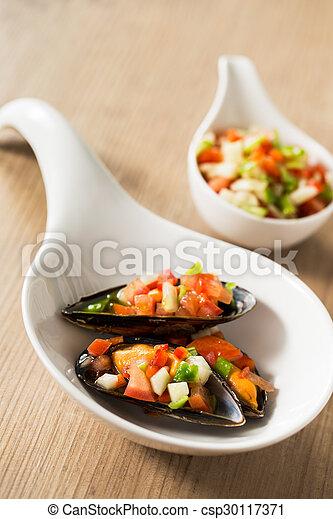 Spanish mussels - csp30117371