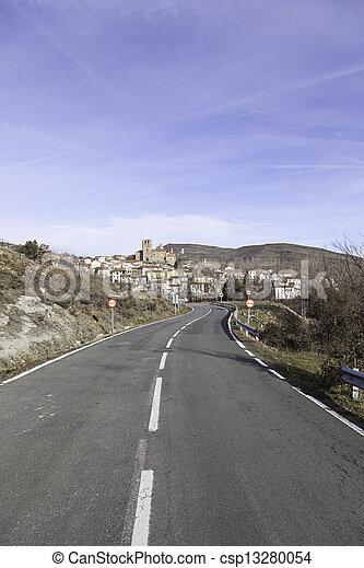 Spanish rural village - csp13280054