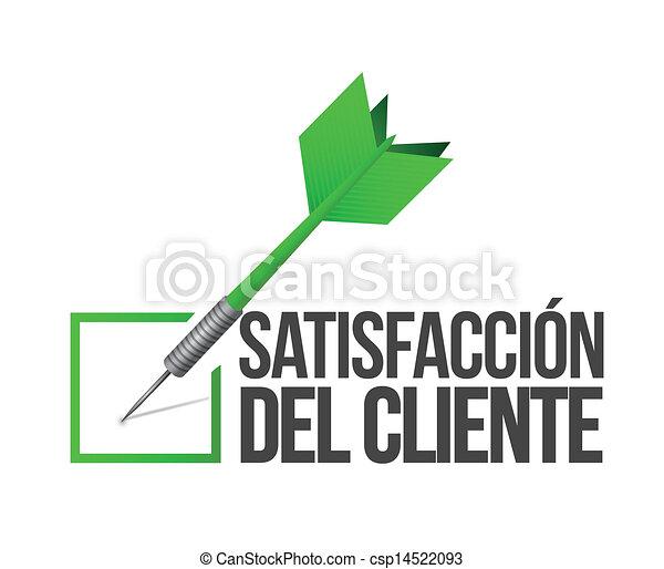 Spanish, target good customer service concept - csp14522093
