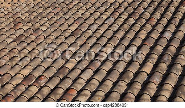 Spanish terracotta roof tiles