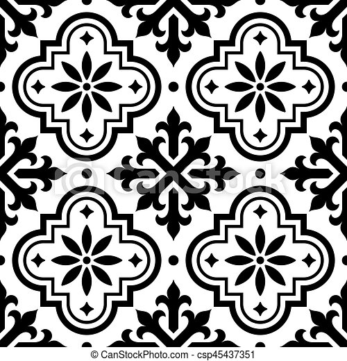 Spanish Tile Pattern Moroccan Tiles Design Seamless
