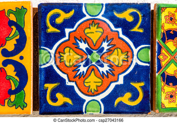 Vintage spanish tile