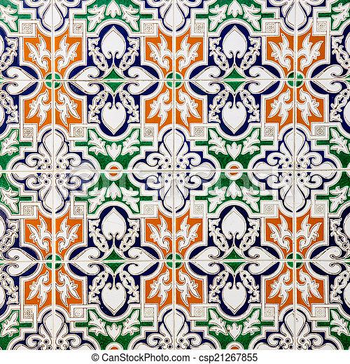 spanish tile - csp21267855