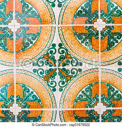 spanish tile - csp31679522