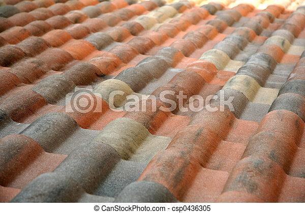 Spanish Tiled Roof - csp0436305