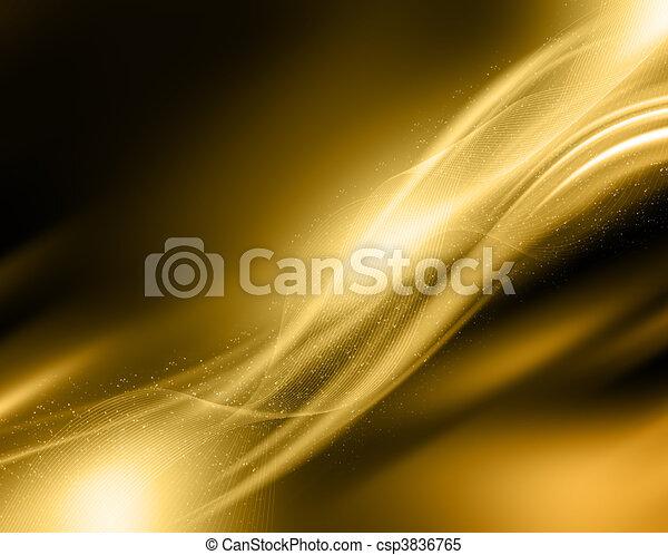 Sparkle gold background - csp3836765