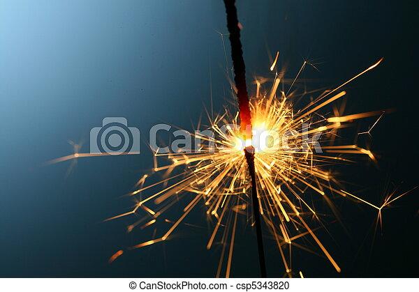 sparkler, fuoco - csp5343820