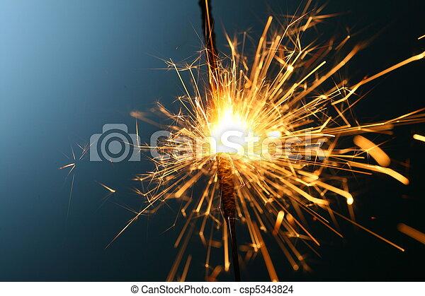 sparkler, fuoco - csp5343824