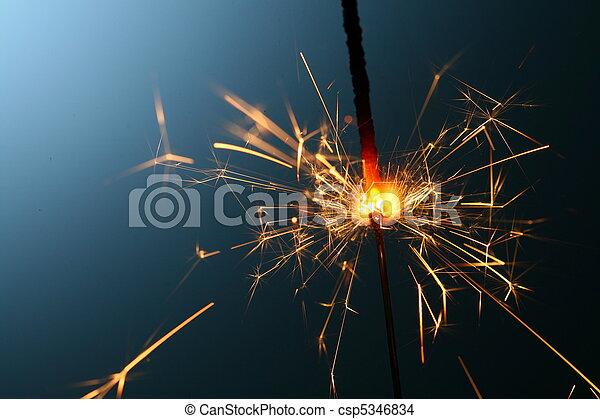 sparkler, fuoco - csp5346834