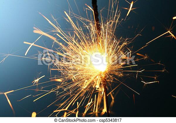 sparkler, fuoco - csp5343817