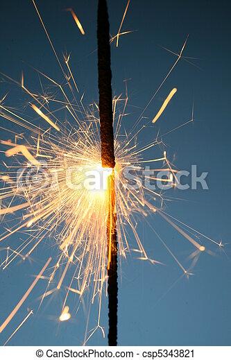 sparkler, fuoco - csp5343821