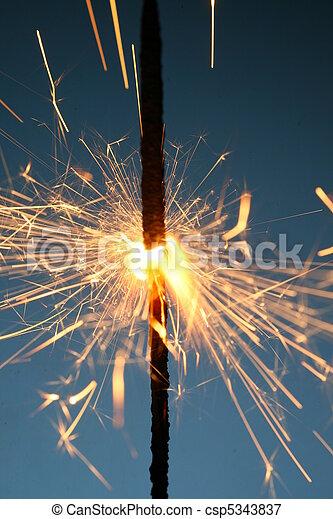 sparkler, fuoco - csp5343837