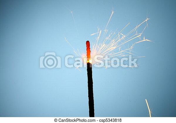 sparkler, fuoco - csp5343818