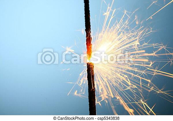sparkler, fuoco - csp5343838