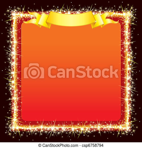 Sparkling Bright Frame - csp6758794