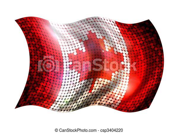 Sparkling Flag of Canada - csp3404220