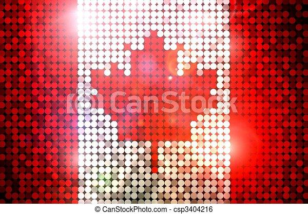 Sparkling Flag of Canada - csp3404216