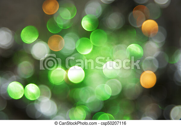 Christmas Texture.Sparkling Green Lights Background Christmas Texture