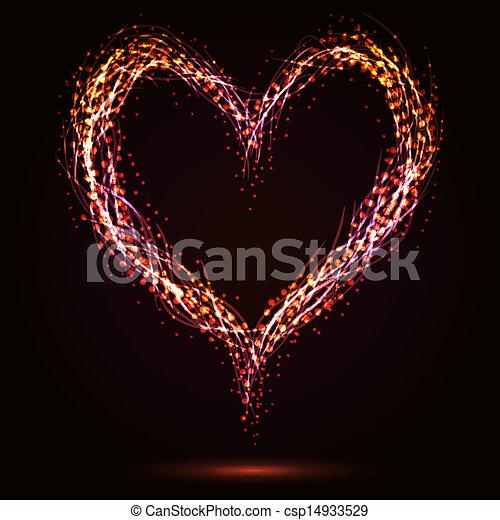 Sparkling heart - csp14933529