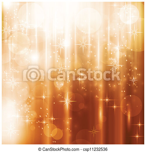 Sparkling lights and stars Christmas card - csp11232536