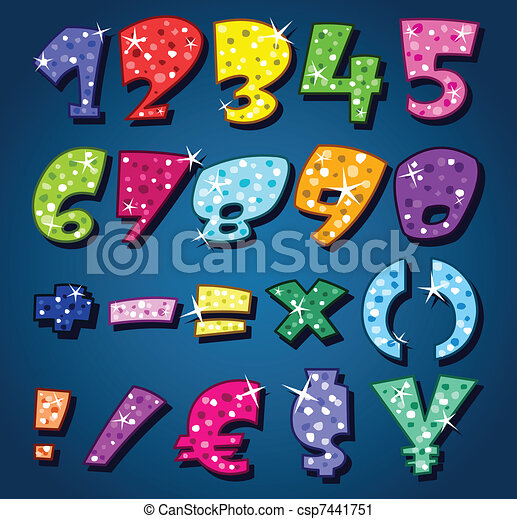 Sparkling numbers - csp7441751