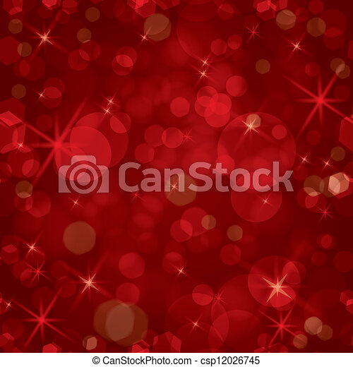 Sparkling red seamless vector - csp12026745