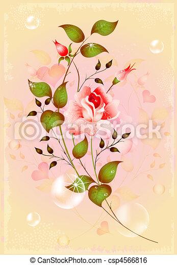 Sparkling rose for greeting card clip art vector search drawings sparkling rose for greeting card csp4566816 m4hsunfo Images