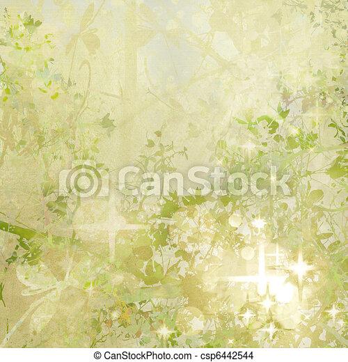 Sparkly Garden Art Textured Background - csp6442544