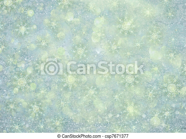 Sparkly Winter Snowflake Background - csp7671377