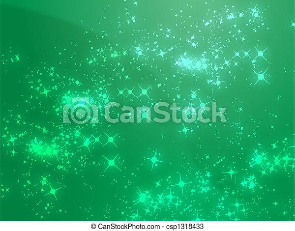 Sparks of floating light illustration - csp1318433