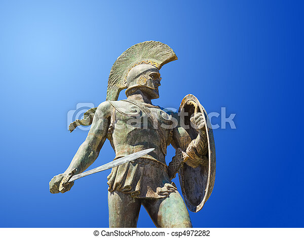 sparta, 王, leonidas, 像, ギリシャ - csp4972282