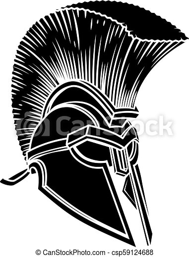 494344422 Spartan ancient greek helmet. A warriors ancient greek spartan ...